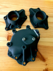 Output castings and speed-o gear housing